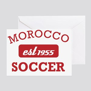 Moroccan Soccer Designs Greeting Card