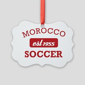 Moroccan Soccer Designs Picture Ornament
