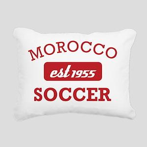 Moroccan Soccer Designs Rectangular Canvas Pillow