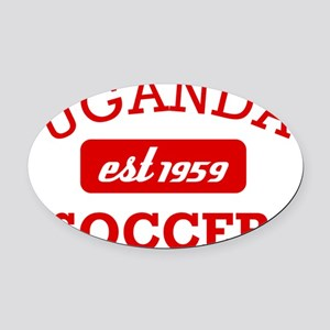 Ugandan Soccer Designs Oval Car Magnet