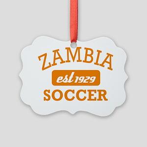 Zambian soccer designs Picture Ornament