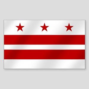 Washington DC Flag Sticker (Rectangle)
