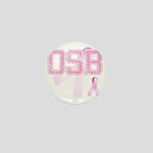 OSB initials, Pink Ribbon, Mini Button