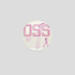 OSS initials, Pink Ribbon, Mini Button