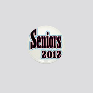 Seniors 2012 Baby Blue and Pink Mini Button