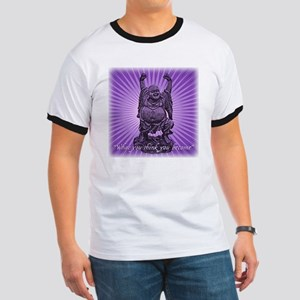 Buddha Smiles Ringer T