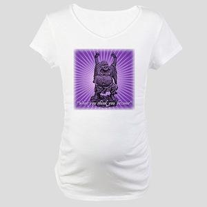 Buddha Smiles Maternity T-Shirt