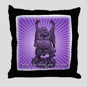 Buddha Smiles Throw Pillow