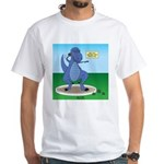 T-Rex Shot Put White T-Shirt