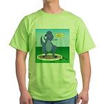 T-Rex Shot Put Green T-Shirt