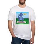 T-Rex Shot Put Fitted T-Shirt