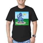 T-Rex Shot Put Men's Fitted T-Shirt (dark)