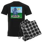 T-Rex Shot Put Men's Dark Pajamas