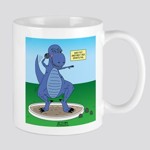 T-Rex Shot Put 11 oz Ceramic Mug