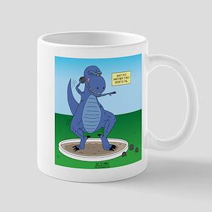 T-Rex Shot Put 11 oz Ceramic Mug