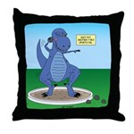 T-Rex Shot Put Throw Pillow