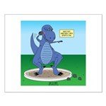 T-Rex Shot Put Small Poster