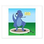 T-Rex Shot Put Small Poster