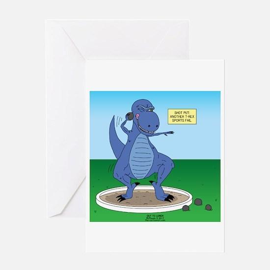 T-Rex Shot Put Greeting Card