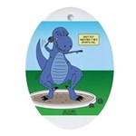 T-Rex Shot Put Oval Ornament
