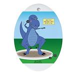 T-Rex Shot Put Oval Ornament