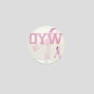 OYW initials, Pink Ribbon, Mini Button