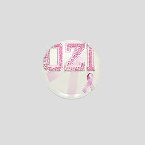 OZI initials, Pink Ribbon, Mini Button