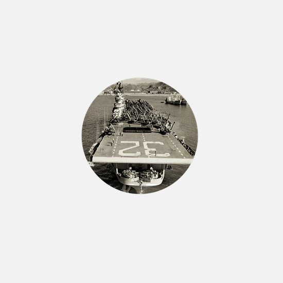 leyte cv framed panel print Mini Button
