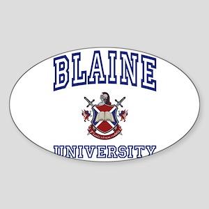 BLAINE University Oval Sticker