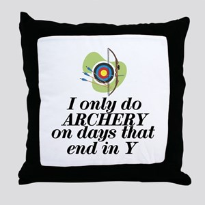 ArcheryChick Days Throw Pillow