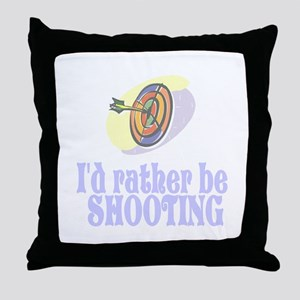ArcheryChick Rather Throw Pillow