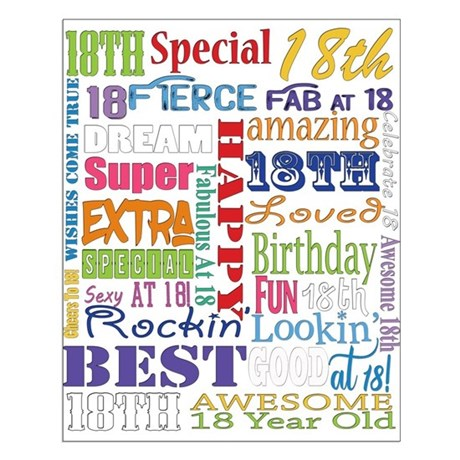 18th birthday poster