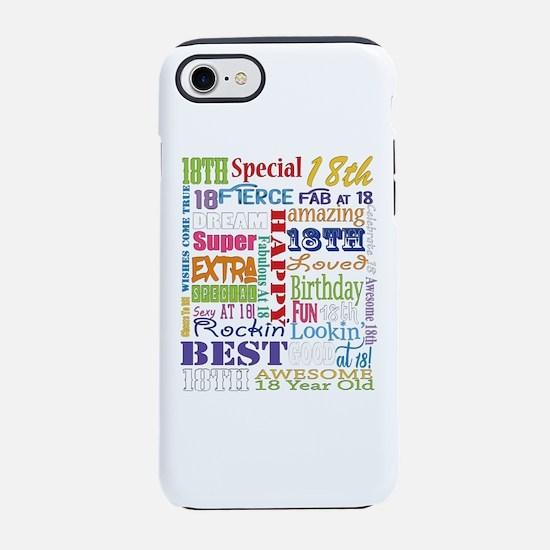 18th Birthday Typography iPhone 7 Tough Case
