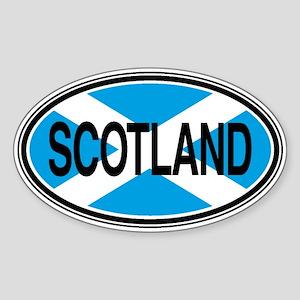 Scotland Full Text Euro Oval Sticker
