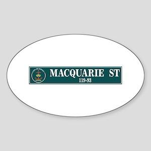 Macquarie St., Sydney (AU) Oval Sticker