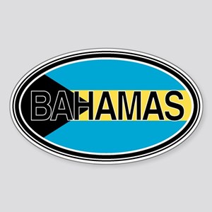 Bahamas Euro Oval Full Text Sticker