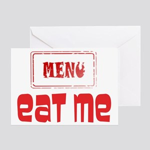 Menu. Eat Me. Greeting Card