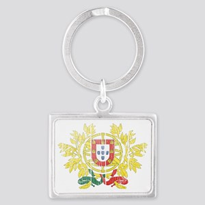 Portugal Coat of Arms wood Landscape Keychain