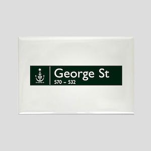 George St., Sydney (AU) Rectangle Magnet