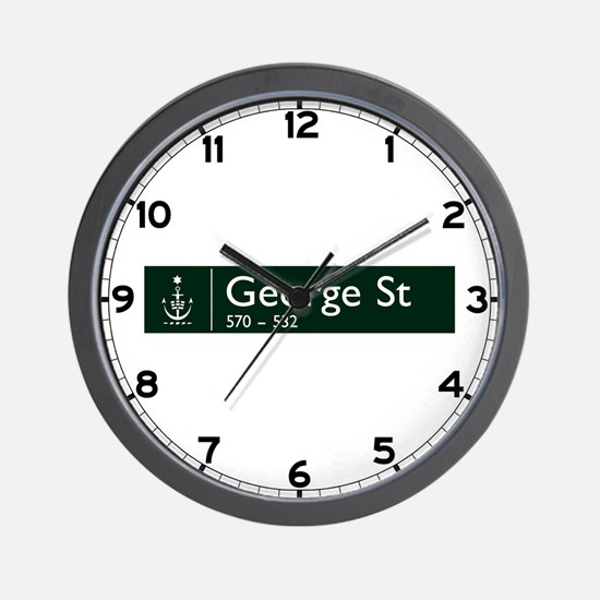 George St., Sydney (AU) Wall Clock