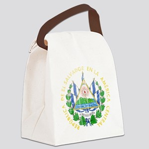s El Salvador Coat of Arms wood Canvas Lunch Bag