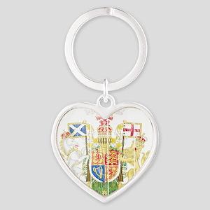 Royalthe United Kingdom( Scotland)  Heart Keychain