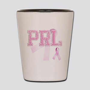 PRL initials, Pink Ribbon, Shot Glass