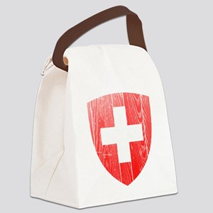 Switzerland Coat of Arms wood Canvas Lunch Bag