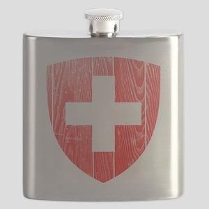 Switzerland Coat of Arms wood Flask