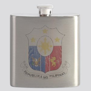the Philippines Coat of Arms wood Flask
