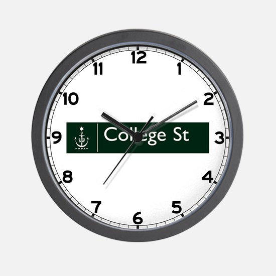 College St., Sydney (AU) Wall Clock