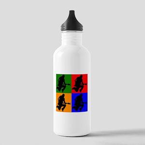 Rock Star Pop Art Water Bottle