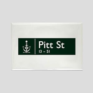Pitt St., Sydney (AU) Rectangle Magnet