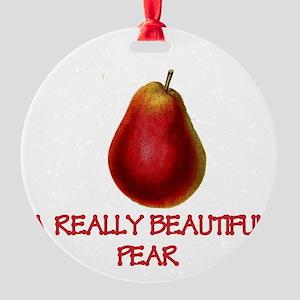 A Really Beautiful Pear Ornament